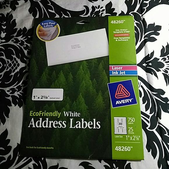 Ecofriendly White Address Labels
